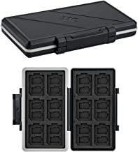 36 Slots Memory Card Case Water-Resistant Anti-Shock Memory Card Wallet for 24 Micro SD SDXC SDHC TF Cards and 12 SD SDXC ...