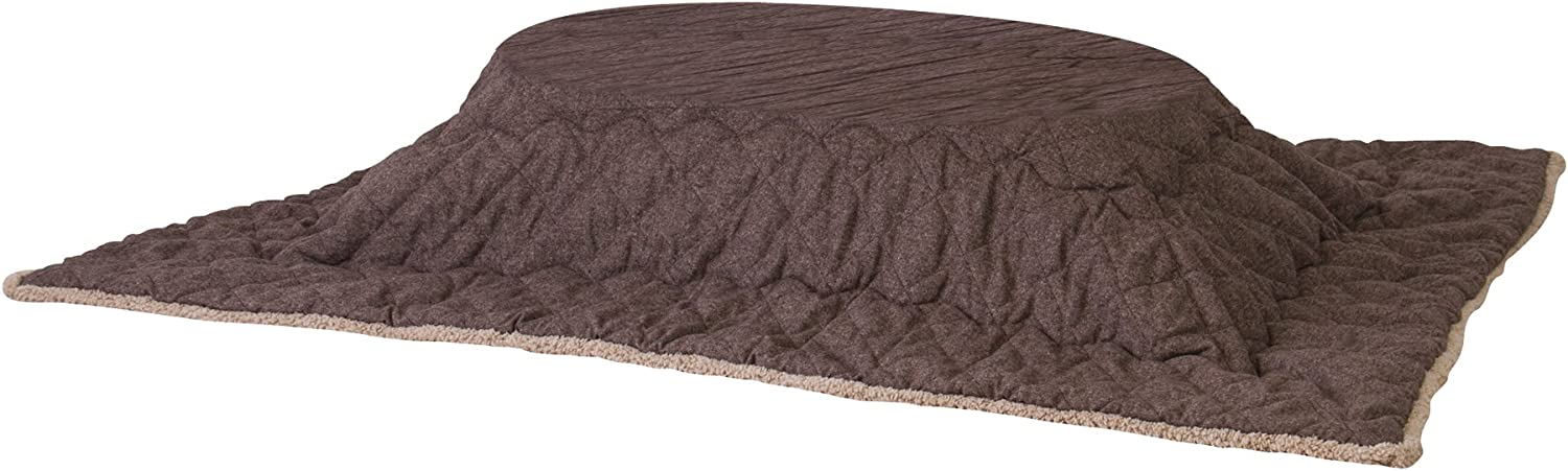 Azumaya Kotatsu Futon Rectangle (75 x 90 Inches) Brown KK-102BR 100% Polyester Fabric