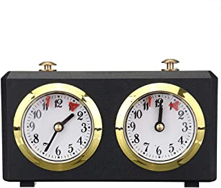 fayle Chess Timer, Professional Chess Clock Game Timer Analogue Clock Chess Timer I-GO Count Up Count Down Timer, Internat...