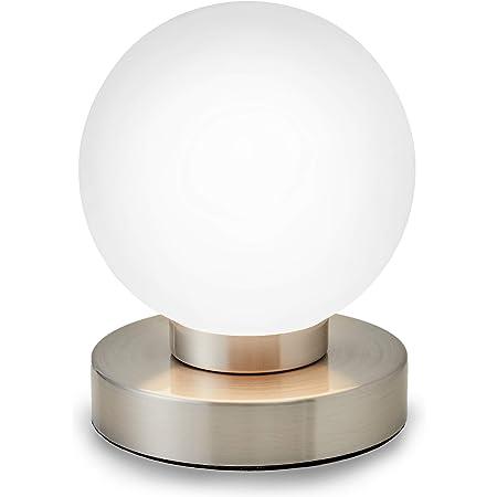 B.K.Licht lampe de chevet tactile 3 intensités, lampe de table avec fonction Touch, lumière de lecture, éclairage chambre, chambre enfant bébé, 3 niveaux de luminosité