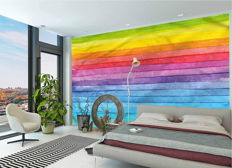 IRONANDGCFOXBOX New York Mall Abstract Very popular! Large Wall Stripe Colored Mural Rainbow