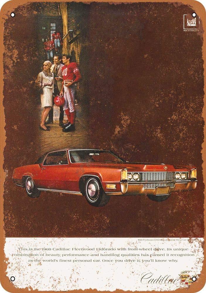 Yohoba 1969 Cadillac Fleetwood Eldorado - Letrero de Metal de ...