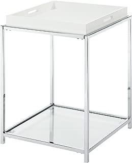 Convenience Concepts Palm Beach End Table, White