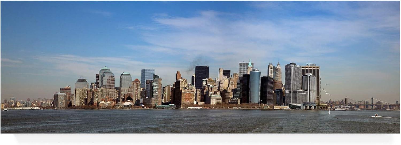 Trademark Fine Art Lower Manhattan Panorama New York color Pan by Monte Nagler, 8x24