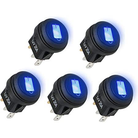 5 pcs Cover Hood waterproof Round Hole Panel Switch 20mm