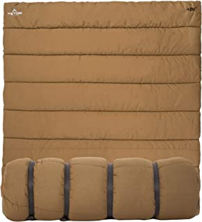 TETON Sports Evergreen Canvas Sleeping Bag; Warm and Comfortable Sleeping Bag Great for Camping or Hunting; Mild Weather Sleeping Bag Perfect for a Family Campout in the Backyard or the Great Outdoors