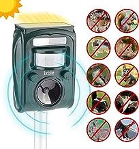 Izbie Z1 Ultrasonic Squirrel, Deer, Bird Repellent - Waterproof Effective Outdoor Electronic Deterrent for Rodent, Mouse, Cat, Dog, Snake, Raccoon, Pest Repeller Control - Green
