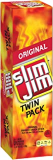Slim Jim Original Twin Pack Smoked Snack Stick, Packed with Protein, 1.94 Ounce, 24 count, Pack of 6