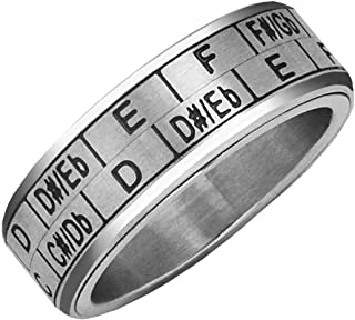 Musicians Transposition Spinner Ring - US Size 10