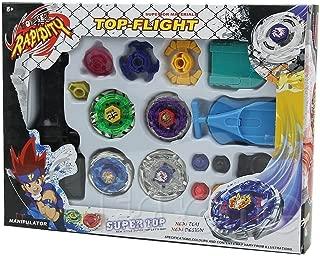 Metal Master Fusion Top Rapidity 4D Fight Rare Storm Pegasus/Flame Libra/Earth Eagle/ Lightning L-Drago Launcher Grip Gyro Toy Set