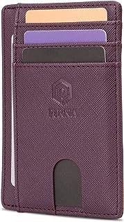 Slim Wallet for Men | RFID Blocking Minimalist Credit Card Holder – Lightweight Card Wallet with Gift Box (Purple)
