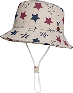 Jeff & Aimy 100% Cotton Kids UPF50+ Safari Floppy Sun Hat Breathable Bucket Hat Summer Fishing Toddler Boys Girls Play Hat