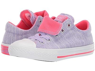 Converse Kids Chuck Taylor(r) All Star(r) Maddie (Little Kid/Big Kid) (Wild Lilac/Racer Pink/White) Girl