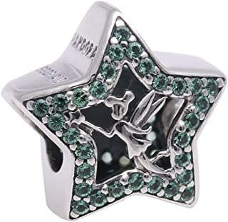 Disney Tinker Bell Star Green Crystal Charm 2016 Spring Collection 791920NPG