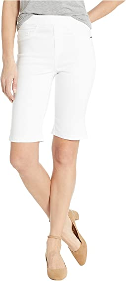 D-Lux Denim Pull-On Bermuda in White