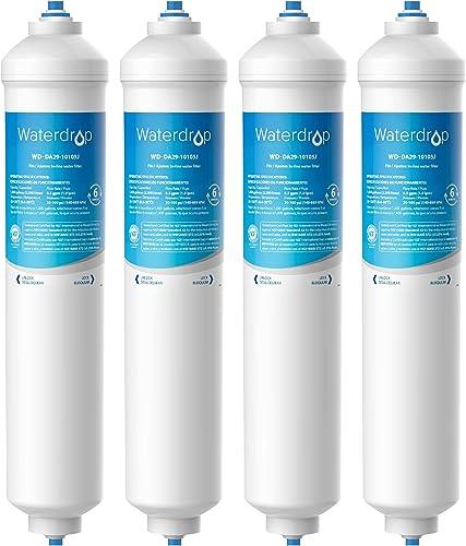 Waterdrop 4X DA29-10105J Filtre à Eau pour Réfrigérateur, Compatible avec Samsung (Uniquement Externe) DA29-10105J DA...