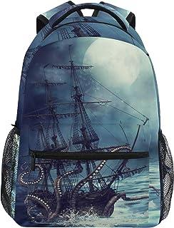 AUUXVA Backpack Ocean Octopus Pattern Durable Laptop Travel Shoulder Bag Hiking for Women Girls Men Boys