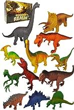 Large Dinosaur Toys , 12pc Plastic Dinosaurs Figures – T Rex , Triceratops , Brachiosaurus, Stegosaurus , Ankylosaurus Toy Figurines Gifts Set , Bonus Dino Guide for Kids , Toddlers, 6 5 4 3 Year Olds