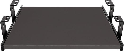 FIX/&EASY Tastaturauszug mit Tastaurablage 390X300mm Anthrazit Dekor Auszugschienen schwarz 300mm Set Ablage mit Auszug f/ür Mini Tastatur Dokingstation