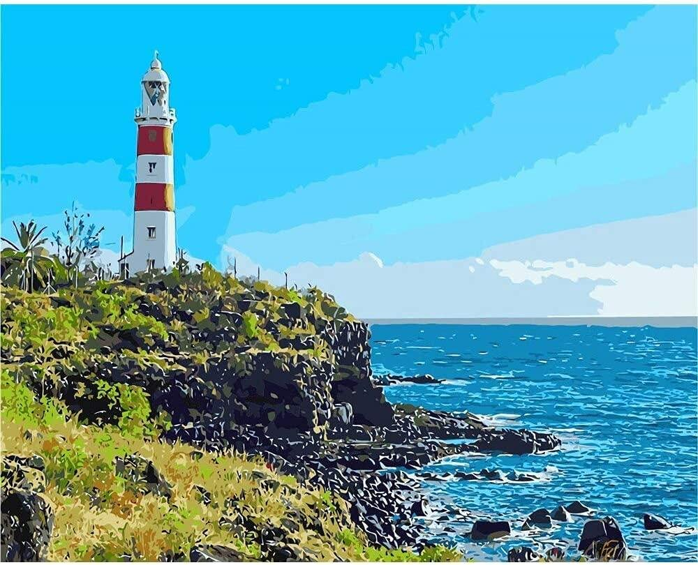 Kids Paint Direct sale of manufacturer by Number Kits DIY Fashion Numbers Coast Lighthouse-