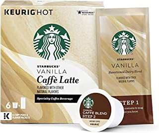Starbucks Medium Roast K-Cup Coffee Pods — Vanilla Caffè Latte for Keurig Brewers —..
