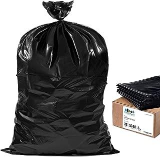 Plasticplace Black Contractor Bags, 55 Gallon, 38x58, 3 Mil, 32/case