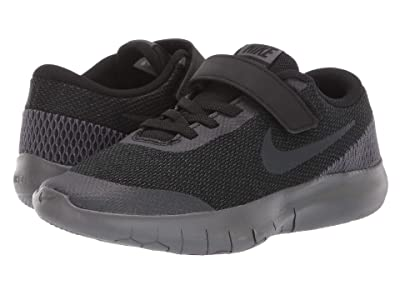 Nike Kids Flex Experience Run 7 (Little Kid) (Black/Anthracite/Dark Grey) Boys Shoes