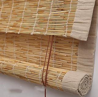 MYYDD Cortina de bambú de persianas enrollables de