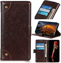 Mobile phone case Copper Buckle Nappa Texture Horizontal Flip Leather Case with Holder & Card Slots & Wallet for LG W30(Black) (Color : Coffee)