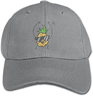 RZMY LY RZM YL Child Happy Pineapple Twill Adjustable Outdoor Peaked Hat Baseball Cap