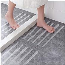 Ecooe 16 x antypoślizgowych pasków do schodów, pryszniców i wanien, samoprzylepnych, 45 cm długości, 2 cm szerokości, prze...