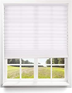 Window Shades - Cordless Pleated Light Filtering Window Blinds - Trim to Fit - Easy to Lift - No Tools Required - 48in x 64in(Fits window's 31