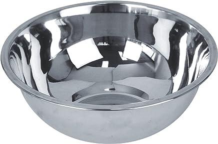 Preisvergleich für Equinox Salatschüssel Edelstahl Silber, Rostfreies Metall, Silber, 22 x 22 x 8,5 cm