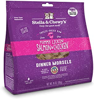 Stella & Chewy's Yummy Lickin' Salmon & Chicken Freeze Dried Dinner Morsels for Cats 18oz