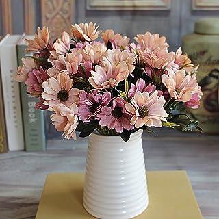 Ramo de flores artificiales con flores de seda (6 ramas de 10 pimpollos)