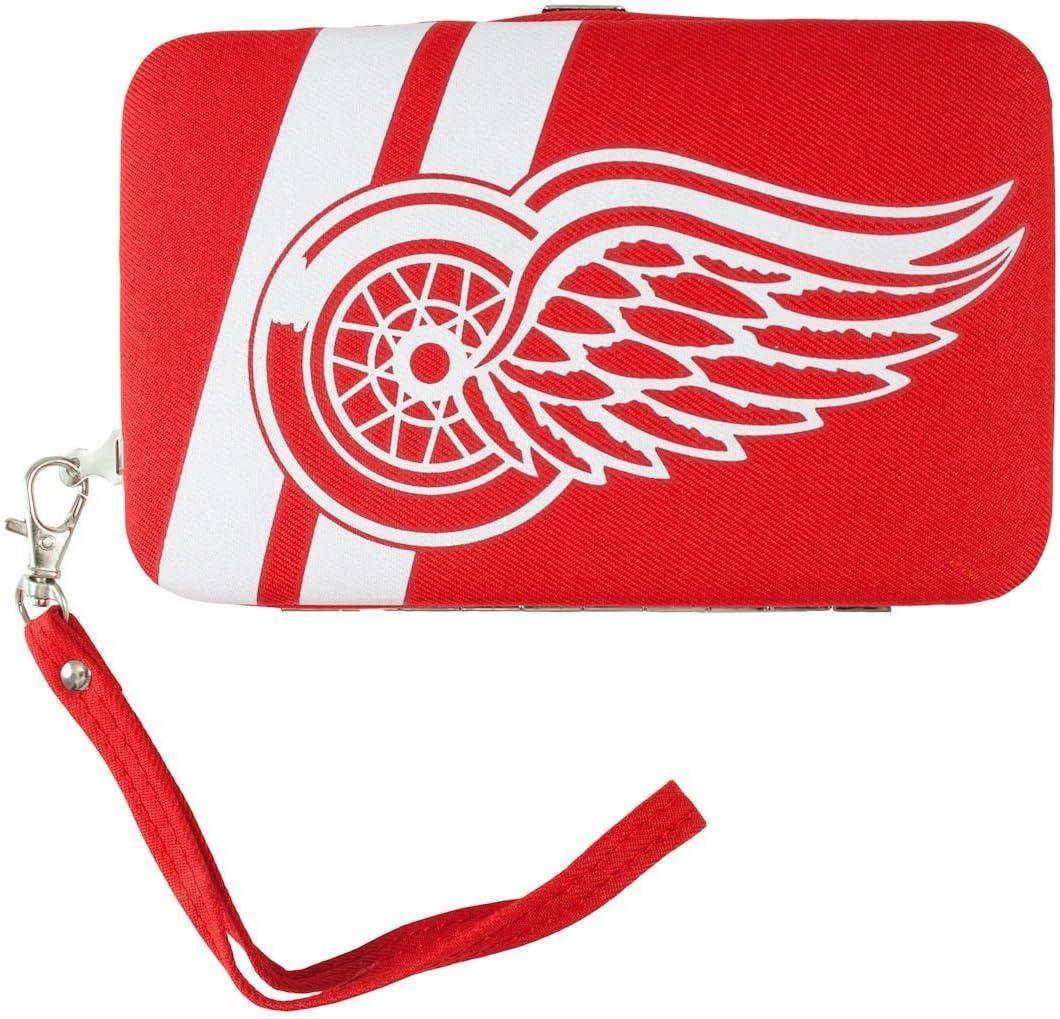 Detroit Red Wings Shell Wristlet, 3.5 x 0.5 x 6-Inch