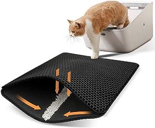 Ycozy Cat Litter Mat Large 75 x 55 cm Kitty Litter Trapping Mat for Litter Box - Honeycomb Black Hole Design - Waterproof,...