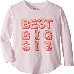Extra Soft Vintage Jersey Best Big Sister Tee (Little Kids/Big Kids)