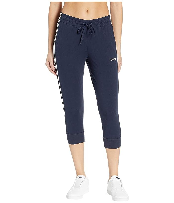 adidas Essential 3-Stripes 3/4 Pants (Legend Ink/White) Women