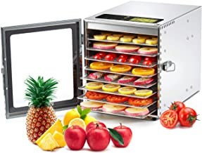 Colzer Food Dehydrator Machine(67 Free Recipes) 8 Stainless Steel Trays Adjustable Thermostat...