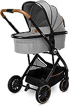 Lionelo Riya 3 in 1 Babyschale Babygondel Kinderwagen bis zu 15 kg Liegeposition Rückwärts- und vorwärtsgerichtete Sitzmontage XXL-Dach Moskitonetz Regenschutz Fußsack Grau