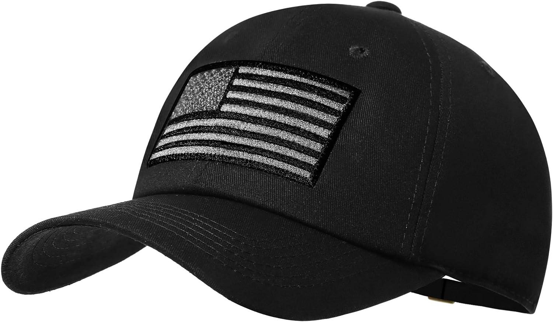 American Flag Hat Men Women Adjustable USA Baseball Cap Low Profile Plain Dad Hat Outdoor Ball Cap