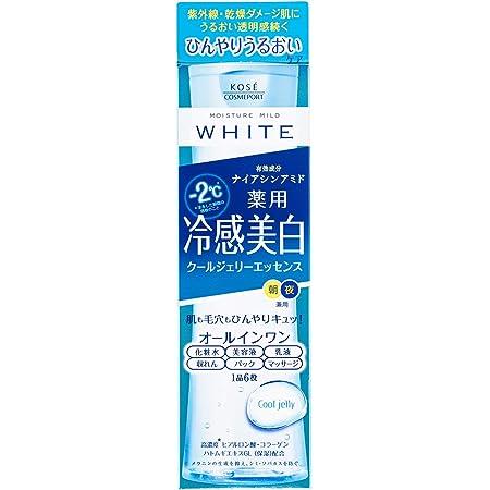 KOSE モイスチュアマイルド ホワイト クールジェリーエッセンス 200mL マイナス2℃タッチのクール美白ジェリーエッセンス オールインワン 無香料 200ミリリットル (x 1)