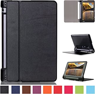 Kepuch Custer Lenovo Yoga Tab 3 8.0 850F Case - Ultra-Thin Custer PU Leather Case Shell Hard Case Cover for Lenovo Yoga Tab 3 8.0 850F - Black