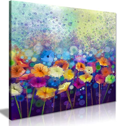 Watercolor painting of flowers  abstract flowers  watercolor home decor  abstract art  painting of a garden  abstract landscape