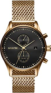 MVMT Voyager Watches   42 MM Men's Analog Watch   Stainless Mesh Wristband
