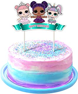 LOL Cake Topper, 1stBirthdayToppers, Cute Girls Dolls Bday Decorations Theme Party - 1 Count