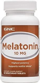 GNC Melatonin 10mg, 60 Tablets, Supports Restful Sleep