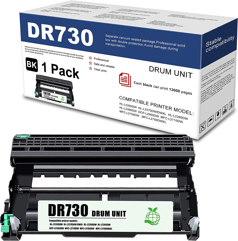 LITHYINK Compatible Drum Unit DR730 DR-730 Replacementfor Brother DCP-L2550DW MFC-L2710DW MFC-L2750DW MFC-L2750DWXL HL-L2350DW HL-L2390DW HL-L2395DW Printer (Black, 1-Pack)