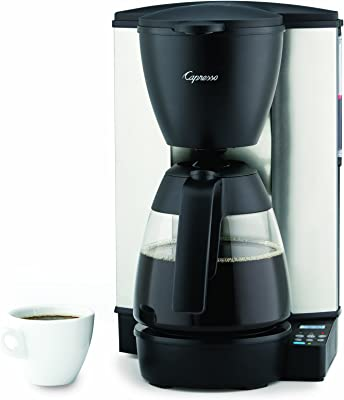 Cafetera programable Capresso con jarra de cristal, acero inoxidable/negro, 10 tazas